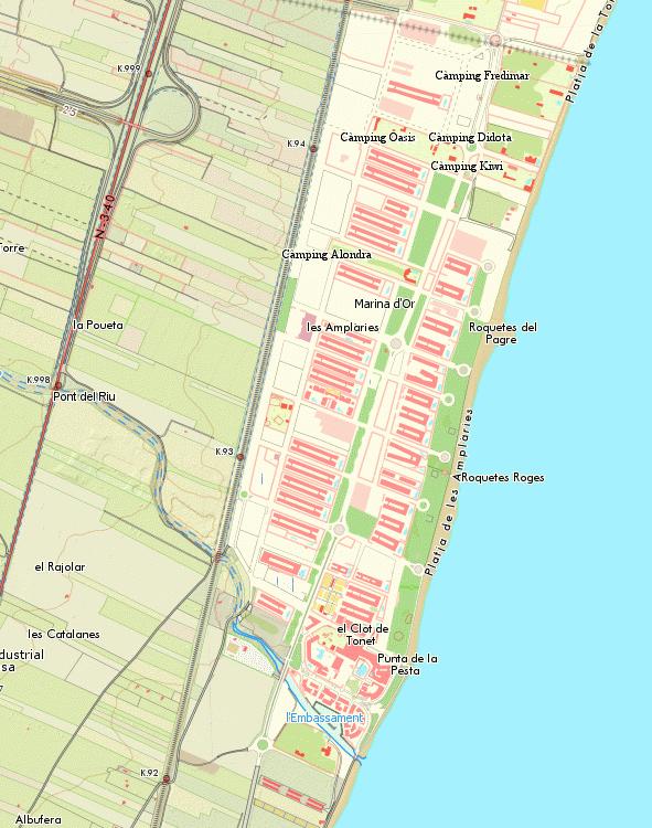 Mapa De Marina D Or.Marina D Or Metrhispanic