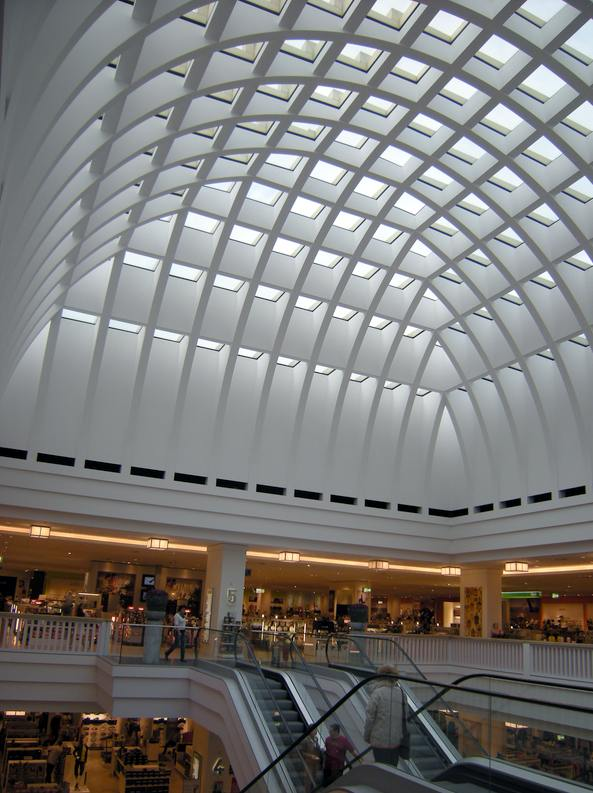 The dome over the central space of the department store