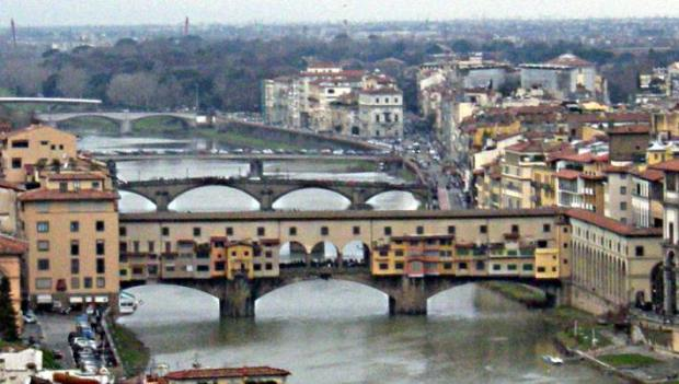 Ponte Vecchio, on the Arno.