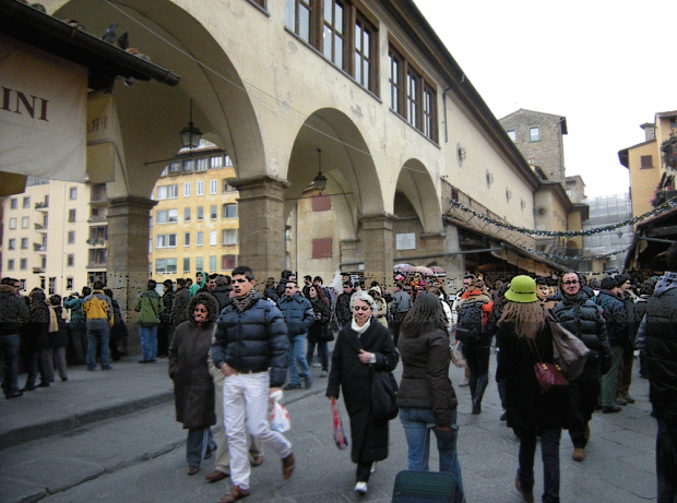 The inner street of Ponte Vecchio
