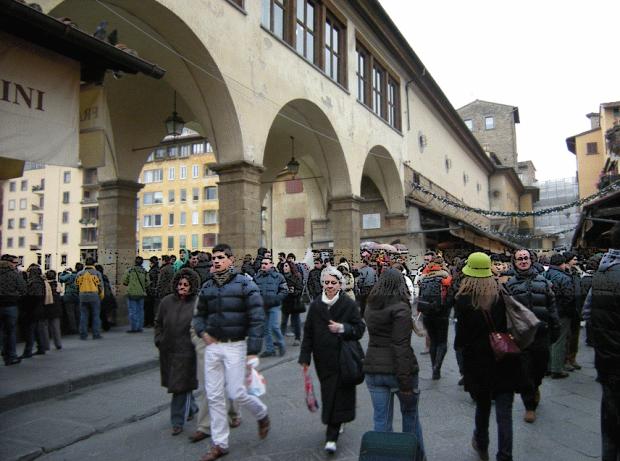 The inner street of Ponte Vecchio