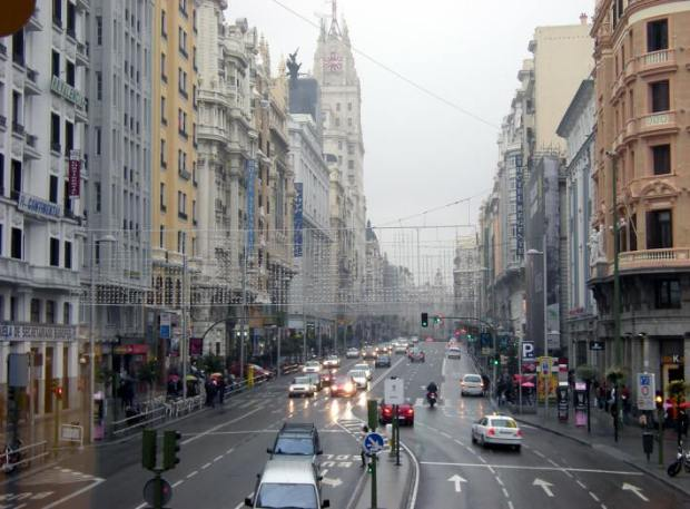 Gran Vía in Madrid, one of the main retail axis in historical Madrid