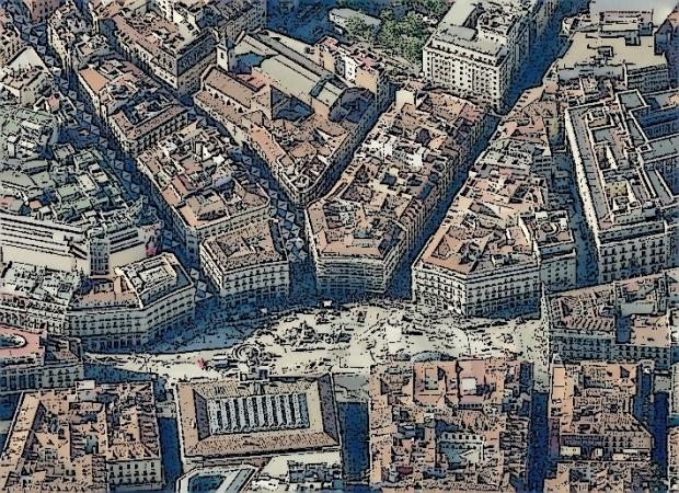 Puerta del Sol and its environs