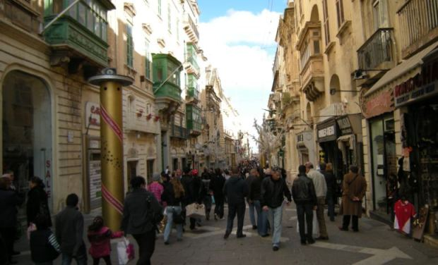 Republic Street, the main axis in the historical core of La Valleta