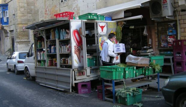 A small convenience shop in a secondary street in La Valleta