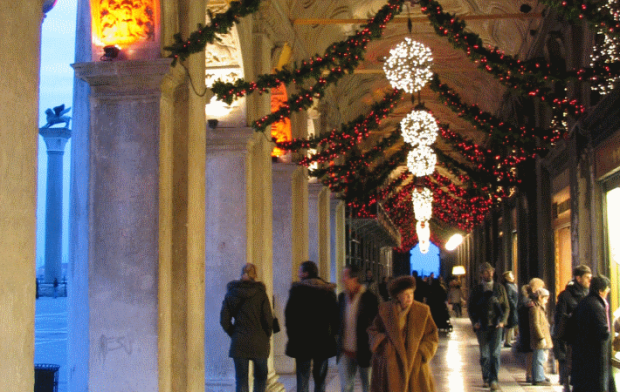 The arcades of Saint Mark's square