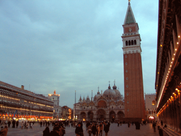 Saint Mark's square, far from being a uniform space, is interesting due to the variety of the buildings on it