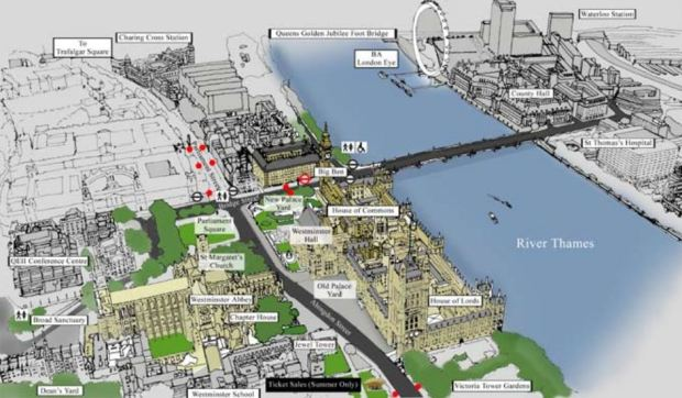 The site and its surroundings, according to the 2007 Site Management Plan proposal