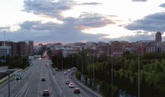 The Sky as seen from the A3 (Valencia freeway) looking towards the urban core.