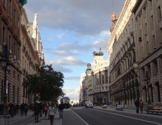 Calle de Alcalá, an historic axis of the old city.