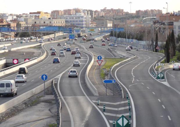 M30 freeway near Avenida de la Albufera, Madrid