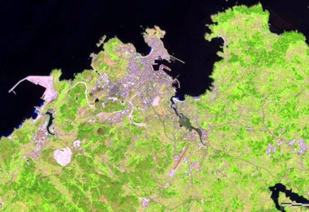 La Coruña, Spain. Image from http://landsatlook.usgs.gov/