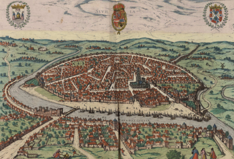 Seville in 1590. A large city, which controlled a substantial part of the American trade
