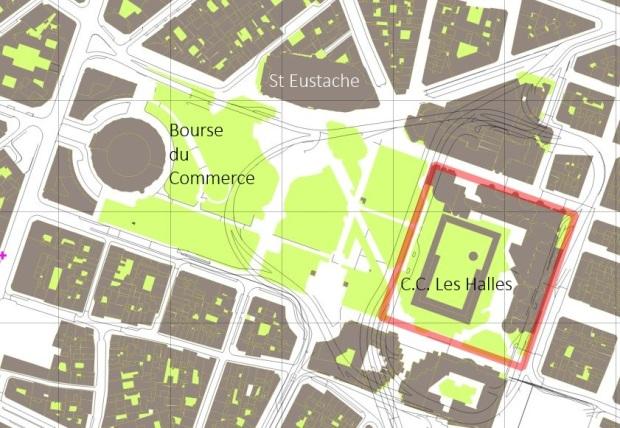 Les Halles area, Paris