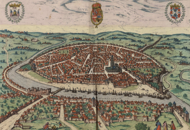 Seville in 1590, by Georg Brown. At the Spanish National Library