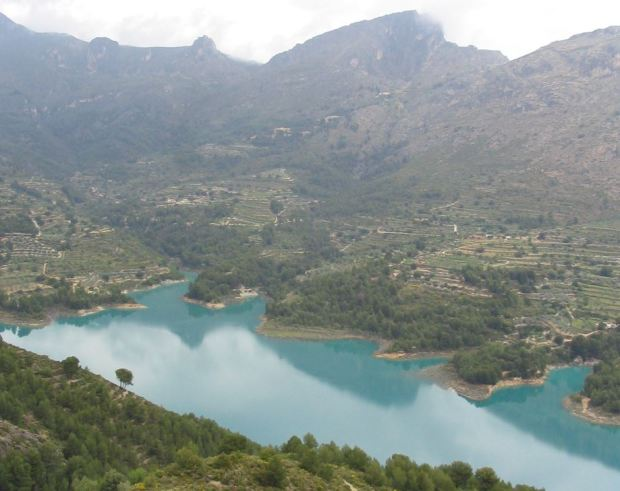 Guadalest reservoir, Alicante, Spain